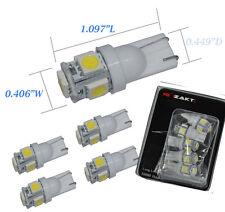 10 x 194 168 2825 W5W T10 5-SMD 5050 White LED Car Lights Bulb