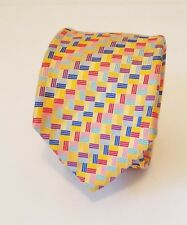 """Holland & Sherry 100% Silk Mens Easter Tie Made in USA 3 1/8"""" Wide 63"""" Long"""