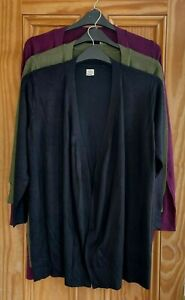 Ladies Dorothy Perkins New Black Red Green Edge Open Cardigan Top Size 6 - 30