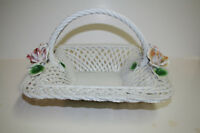 """LANZARIN  Large 12"""" x 12"""" Basket  Hand Made in Italy Mint"""