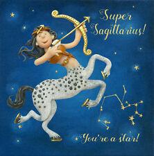 Super Sagittaire Zodiaque Anniversaire Carte De Vœux écrit dans les étoiles cartes