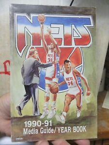 NEW JERSEY NETS 1990-1991 MEDIA GUIDE/YEAR BOOK