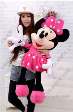 "40"" Disney World Parks Jumbo Cute Minnie Mouse Giant Plush Doll Soft Stuffed Toy"
