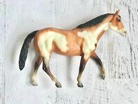 Vintage Breyer #230 Overo Paint Stock Horse Mare Matte Bay Pinto, circa 1983-86