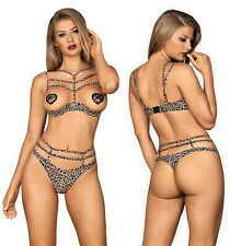 OBSESSIVE Selvy Luxury Quarter Cup Underwired Padded Bra and Matching Thong Set
