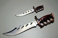 Miniature Militia Knife Dagger Letter Opener Sword Set Collectible Blade Leather