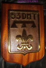 TB465 - PLAQUE DE BRONZE DE LA 53° DIVISION MILITAIRE TERRITORIALE