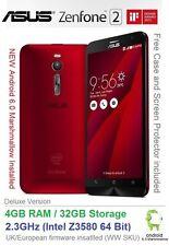 "Asus Zenfone 2 ZE551ML 5.5"" Android 6 Smartphone Dual SIM 2.3GHz 4GB RAM 32GB"