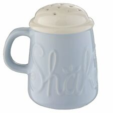 Mason Cash Bake My Day 'Shake it Up' Blue Ceramic Flour Shaker Sifter
