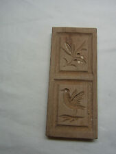 Vintage Wooden German SPRINGERLE COOKIE MOLD Bird Flower #S