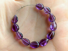 Natural African Amethyst Smooth Plain Pear Straight Drilled Gemstone Beads