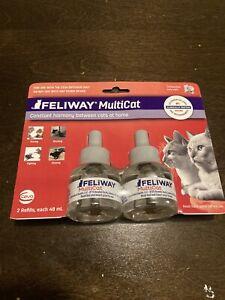 Feliway MultiCat Diffuser Refills 2ct Exp 2024 New