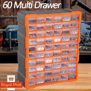 60 Multi Drawer Parts Storage Cabinet Unit Organiser Workshop Garage Tool Box
