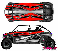 Polaris 4 RZR 900 xp Design Ripped Decal Graphic Kit Wraps Hood Scoop