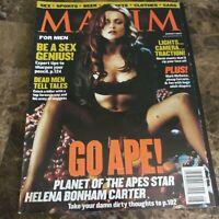 Maxim August 2001 Helena Bonham Carter, Mark McGwire VG 021116DBE