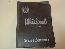 Whirlpool Service Manuals-Parts Lists 1950's Binder Wringer Washer Dryers Ironer