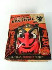 Rare Vintage 1950's Devil Halloween Costume Spook Town Mask Box Art Satan