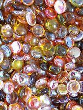 Glass Gems Medium 17-21mm Flat Back Marbles- Autumn Mix GG2061