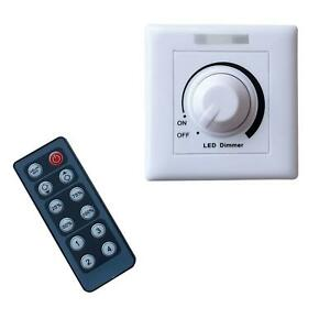 12V 24V LED Light Dimmer Wall Switch Control & Wireless Remote Controller