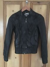 Lipsy Soft Black Leather Jacket 30 Inch Chest