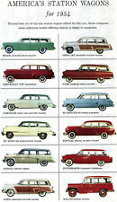 1954 Station Wagons FORD Willys DODGE Nash PONTIAC Studebaker DE SOTO Buick MORE