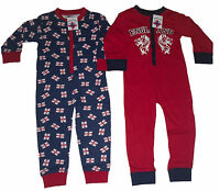 BOYS PYJAMAS JUMPSUIT ALL IN ONE ENGLAND 2 3 4 5 6 7 8 9 10 11 & 12 YEARS