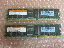 1GB RAM Memory Module 2 x 512MB PC2100R-25330 HYMD264G726D4M