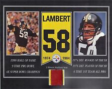 JACK LAMBERT PITTSBURGH STEELERS 3 RIVERS STADIUM SEAT 8 X 10 COA