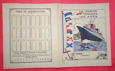 PROTEGE CAHIER de 1935 PAQUEBOT NORMANDIE - SS NORMANDIE copybook cover