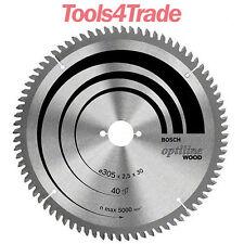 Bosch 2608640440 305mm x 30mm x 40 Teeth Optiline Wood Circular Saw Blade