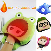 USB Heated Mouse Pad Mouse Hand Warmer with Wristguard Warm Winter