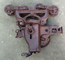 Antique FE Myers & Bros Cast Iron Barn Hay Trolley Pulley Vintage Farm Tool Big