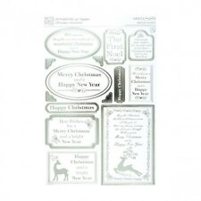 Anitas A4 Die-cut Toppers Silver Foiled Christmas Sentiments for crafts