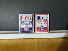 Hoyle Standard Red & Blue Deck Set Playing Cards Poker Size  Plastic Coated