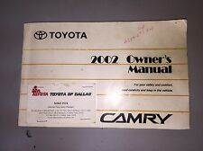 2002 Toyota CamryOwner's Manual