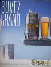 PUBLICITÉ 1986 BIÈRE OBERNAI LA BLONDE KING SIZE PUR MALT - ADVERTISING
