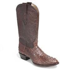 LOS ALTOS BROWN CAIMAN CROCODILE HORNBACK ROUND TOE WESTERN COWBOY BOOT