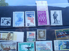 United States: Lot of 20 different MNH issues from early to late 60's