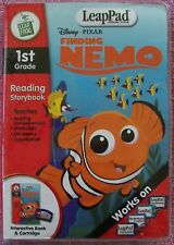 LeapFrog LeapPad Disney Pixar Finding Nemo 1st Grade Reading Book & Cartridge