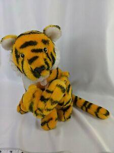 "Dakin Bengal Tiger & Baby Cub Plush 11"" 1978 Stuffed Animal Toy"