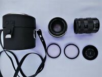 Vintage Carl Zeiss Jena Pancolar 50mm F1,8 Zebra M42 Lens with more accessories.