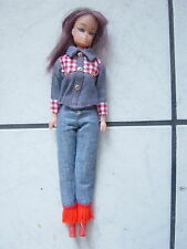 Puppe --60-70  er Jahre Puppe-in Jeans  Kleidung -Barbie/Petra Look 60er Jahre