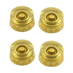 WD Quality Gibson Les Paul USA Spec Speed Knob Set of 4 Gold SPKSG