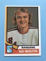 RICK MIDDLETON ROOKIE 1974-75 O-Pee-Chee Hockey Card #304