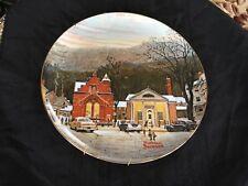 Norman Rockwell Stockbridge in Winter Iii plate