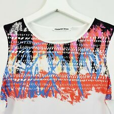 [ COUNTRY ROAD ] Womens S/S Top w/ Print Detail   Size XS or AU 8