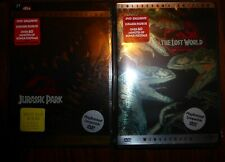 Jurassic Park (DVD, 2000) & The Lost World Collectors Editions DTS Surround 5.1)