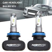 2x Nighteye h11 led bulbs LED Headlight Kit Car Bulbs 6500K Super bright White