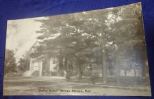 SE988 Vtg Postcard RPPC Public School Schoolhouse Jordan Station ON Blank