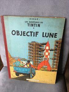 TINTIN BD OBJECTIF LUNE 1953 CASTERMAN HERGÉ